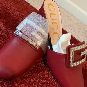 c8a66441bc7 100% Authentic Gucci Madelyn Crystal G Mule